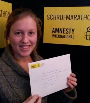 Amnesty International's Schrijfmarathon